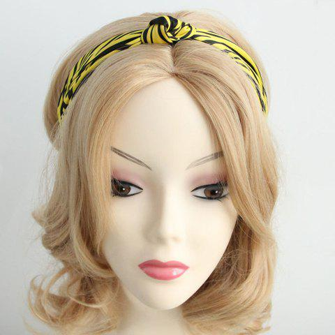 Stylish Stripe Print Decorated Hair Band For Women - YELLOW