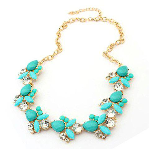Sweet Cute Rhinestone Candy Color Necklace For Women - COLOR ASSORTED