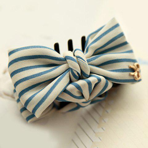 Sweet Cute Striped Bowknot Hairpin For Women - AS THE PICTURE