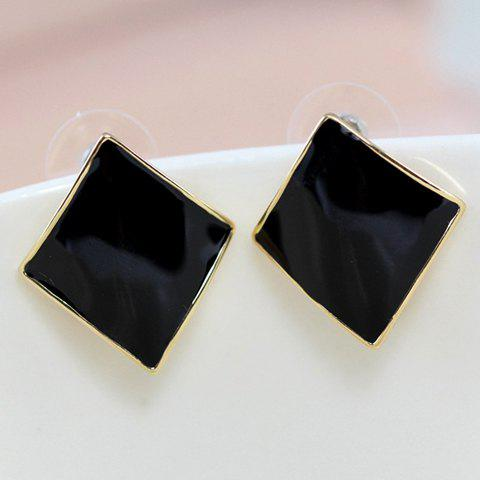 Pair of Delicate Diamond Shape Candy Color Earrings For Women - COLOR ASSORTED