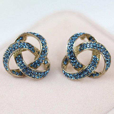 Pair of Stylish Chic Rhinestone Openwork Triangle Earrings For Women - COLOR ASSORTED