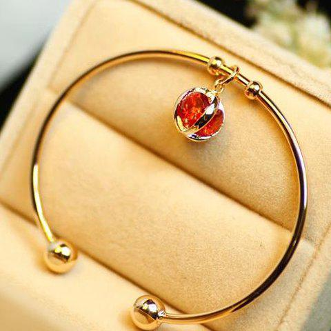 Sweet Cute Red Rhinestone Decorated Bracelet For Women