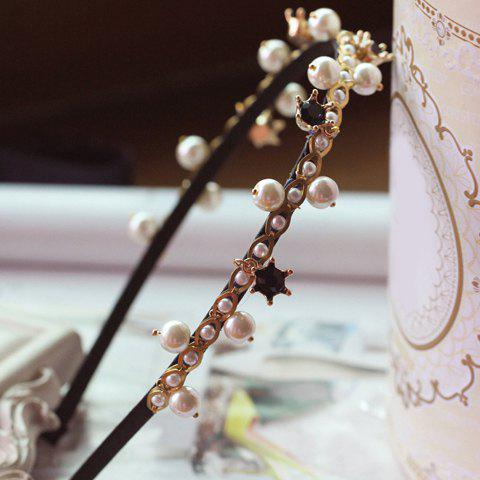 Stylish Chic Beads Decorated Hairband For Women -  COLOR ASSORTED