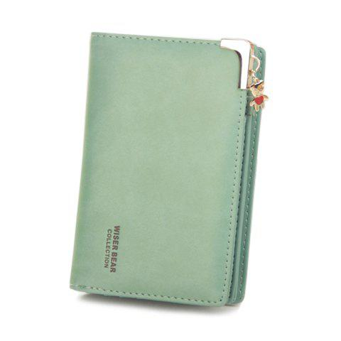 Sweet Bear and Solid Color Design Women's Clutch Wallet