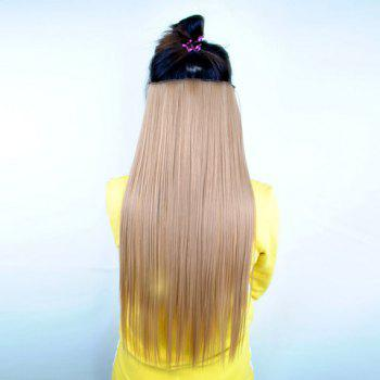 Pretty Linen Overproof Long Straight High Temperature Fiber Women's Hair Extension