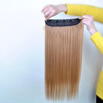 Pretty Linen Overproof Long Straight High Temperature Fiber Women's Hair Extension - FLAX