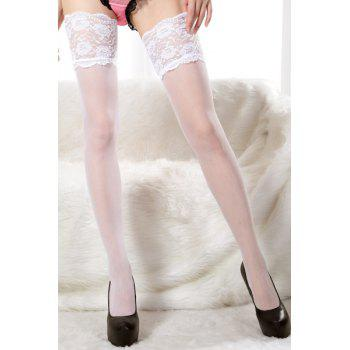 Slimming Lace Splicing See-Through Design Allure Stocking