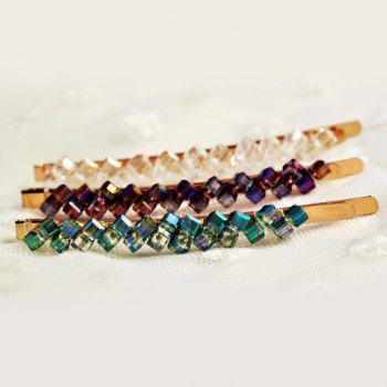 One Piece of Stylish Chic Rhinestone Colored Hairpin For Women -  COLOR ASSORTED