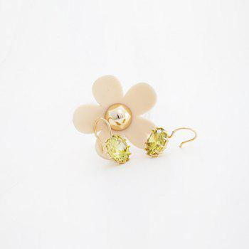 Pair of Exquisite Flower Pattern Zircon Earrings For Women