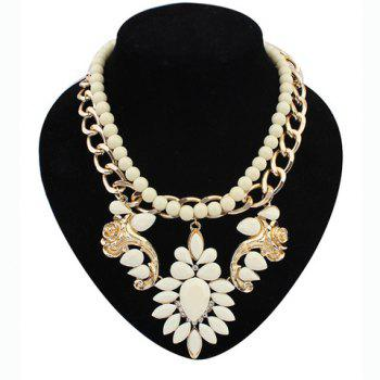Layered Beads Flower Necklace