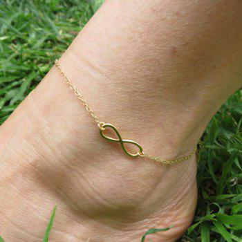 Hollow Infinity Foot Leg Anklet - GOLDEN GOLDEN
