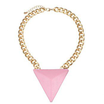 Adjustable Triangle Pendant Necklace - COLOR ASSORTED