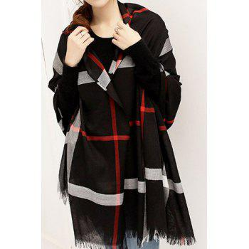 Stylish Chic Plaid Decorated Scarf For Women - COLOR ASSORTED