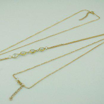 Round Shaped Rhinestone Body Chain - COLOR ASSORTED COLOR ASSORTED