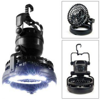 Creative 18 LEDs Tent Light Outdoor Camping with Air Fan