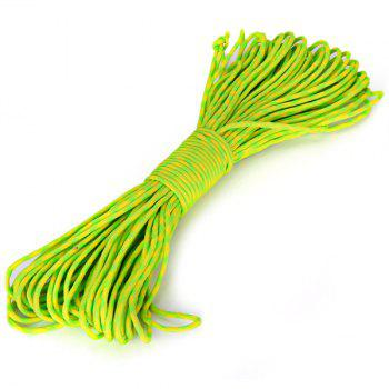 7 Strand Cord 31 Nylon Paracord Parachute Utility Rope (Fluorescent Green + Yellow)