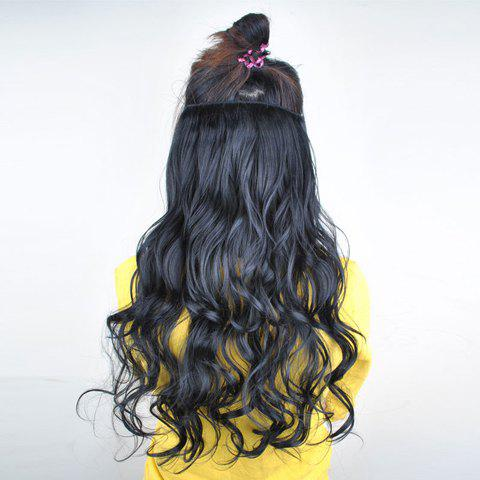 Ladylike Long Wavy Black High Temperature Fiber Women's Hair Extension