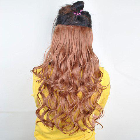 Stylish Golden Long Wavy High Temperature Fiber Women's Hair Extension - GOLDEN