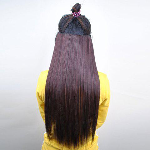 Pretty Chestnut Brown Overproof Long Straight High Temperature Fiber Women's Hair Extension - MAROON