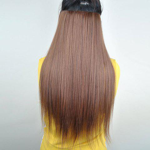 Pretty Light Brown Overproof Long Straight High Temperature Fiber Women's Hair Extension - LIGHT BROWN