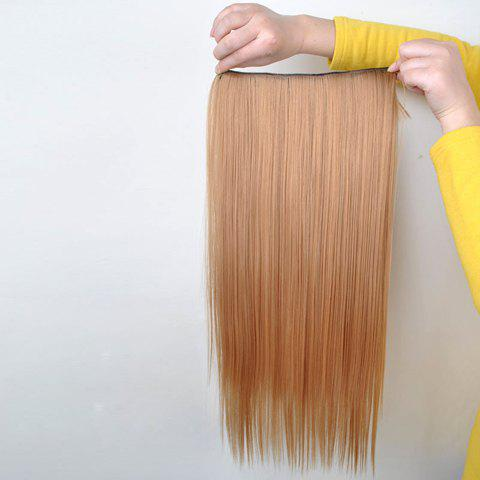Pretty Golden Overproof Long Straight High Temperature Fiber Women's Hair Extension - GOLDEN