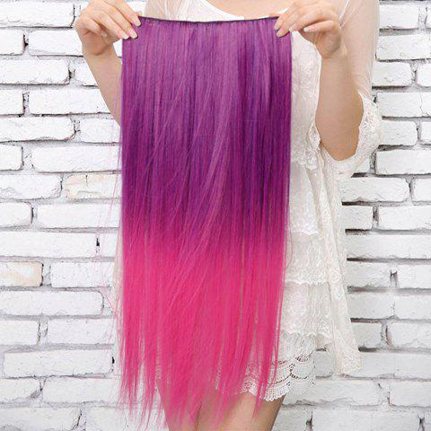 Fashion Style Colorful Long Straight High Temperature Fiber Women's Hair Extension - COLORMIX