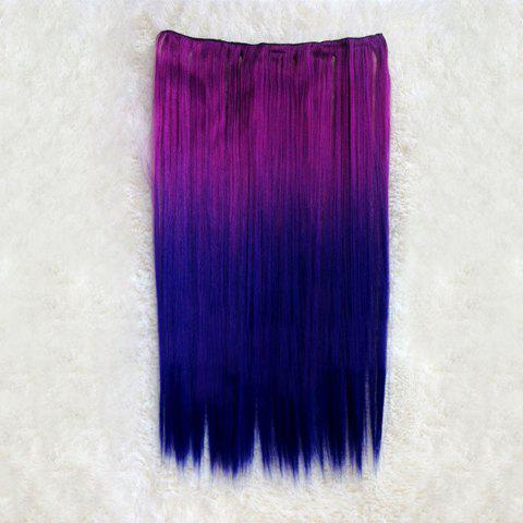 Fashion Style Multicolor Long Straight High Temperature Fiber Women's Hair Extension - COLORMIX