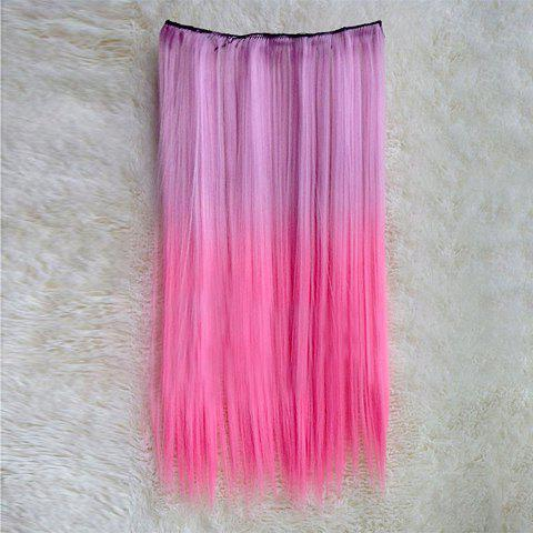 Non-mainstream Colorful Long Straight High Temperature Fiber Women's Hair Extension - COLORFUL