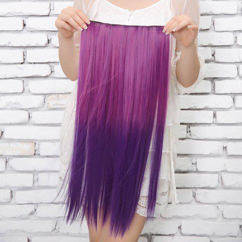Fashion Style Long Straight Multicolor High Temperature Fiber Women's Hair Extension - COLORFUL