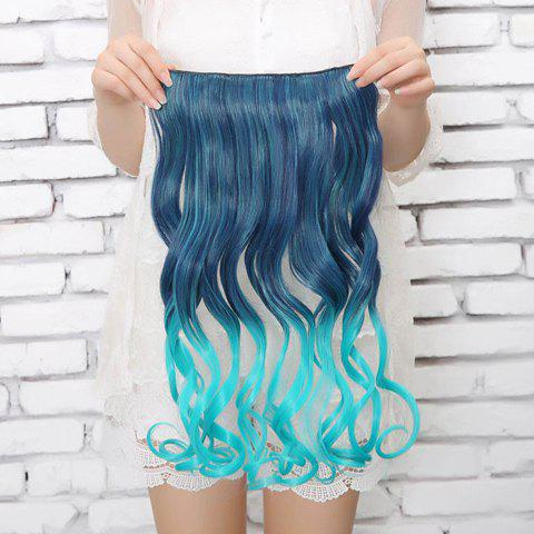 Stylish Multicolor Personality Long Wavy High Temperature Fiber Women's Hair Extension - COLORFUL