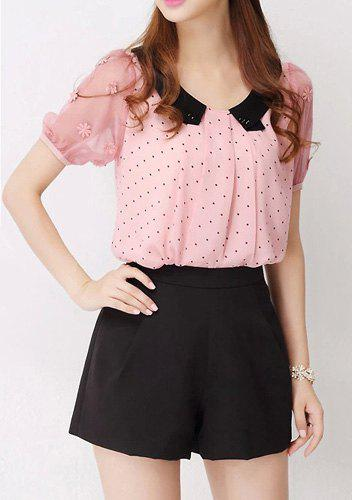 Shop for WHITE M Cute Peter Pan Collar Short Sleeve Bowknot Embellished Women's Blouse online at $ and discover fashion at distrib-wq9rfuqq.tk Cheapest and Latest women & men fashion site including categories such as dresses, shoes, bags and jewelry with free shipping all over the world.