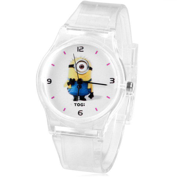 Children Watch with Bee-do Pattern Analog Indicate and Transparent Rubber Band