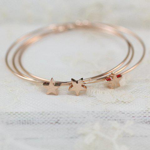 3 Pieces of Sweet Cute Star Decorated Solid Color Bracelets For Women - AS THE PICTURE