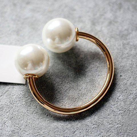 Characteristic Hot Sale Faux Pearl Alloy Cuff Bracelet For Women - GOLDEN