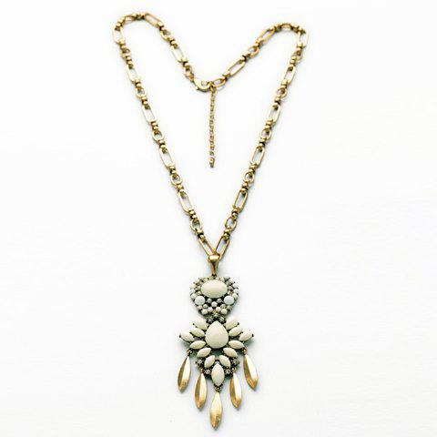 Vintage Rhinestone Decorated Multi-Layered Pendant Necklace For Women - AS THE PICTURE