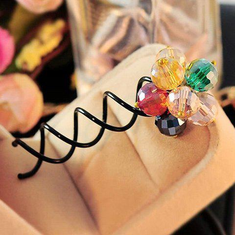 Sweet Colored Rhinestone Flower Hairpin For Women - COLORFUL