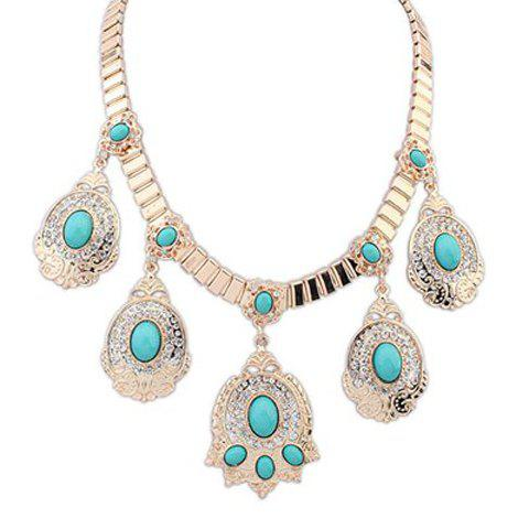 Luxurious Rhinestone Pendant Necklace For Women