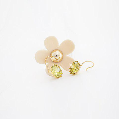Pair of Chic Flower Pattern Zircon Earrings For Women - COLOR ASSORTED