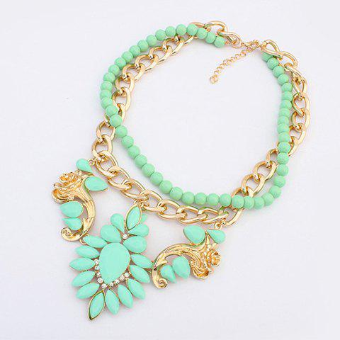 Chic Layered Beads Flower Necklace For Women