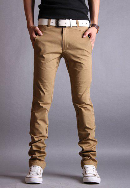 long khaki pants - Pi Pants