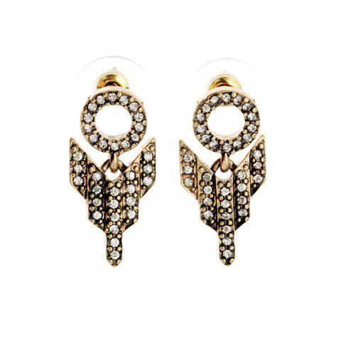 Pair of Unique Diamante Special Design Earrings For Women - AS THE PICTURE
