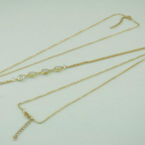 Round Shaped Rhinestone Body Chain - COLOR ASSORTED