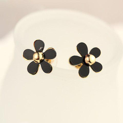 Pair of Sweet Floral Stud Earrings For Women - AS THE PICTURE