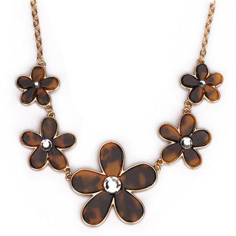 Exquisite Camellia Pattern Pendant Simple Design Necklace For Women - AS THE PICTURE