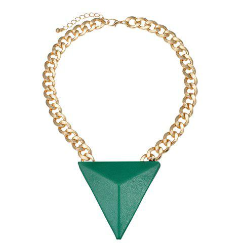 Delicate Colorful Triangle Pendant Necklace For Women