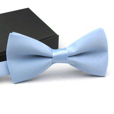 Casual Fashion Solid Color Bow Tie For Men - COLOR ASSORTED