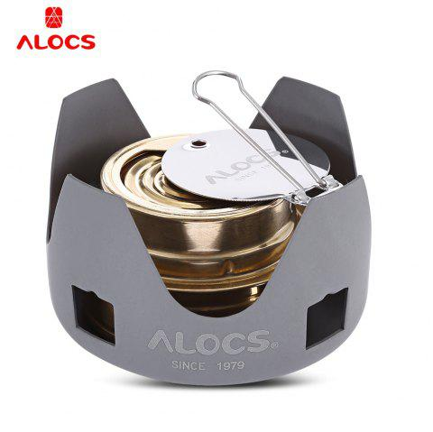 Alocs Portable Mini Spirit Burner Alcohol Stove for Outdoor Backpacking Hiking Camping - COLORMIX