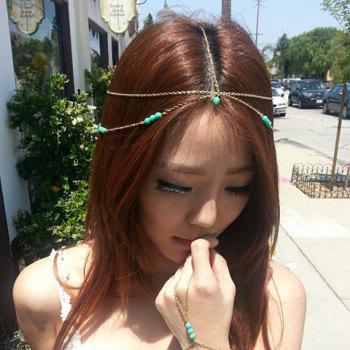Cute Candy Color Faux Pearl Pendant Multi-Layered Hairband For Women - MINT GREEN MINT GREEN
