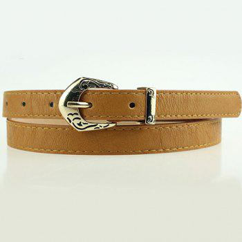 Chic Style Candy Color PU Slender Belt For Women
