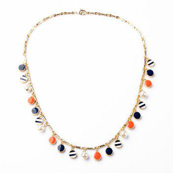Fashion Colorful Oval Pendants Necklace For Women